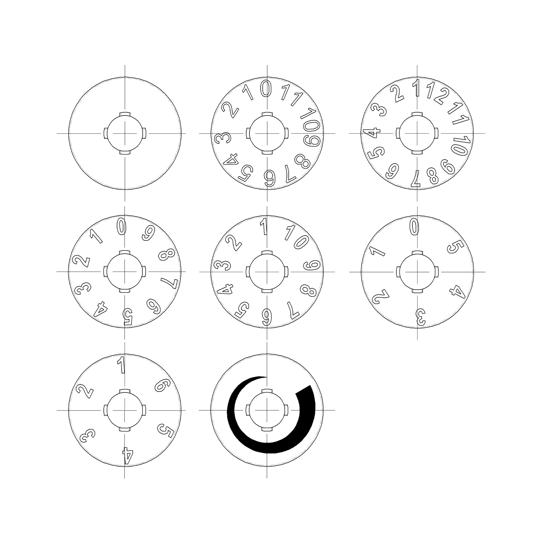 Figure dial options
